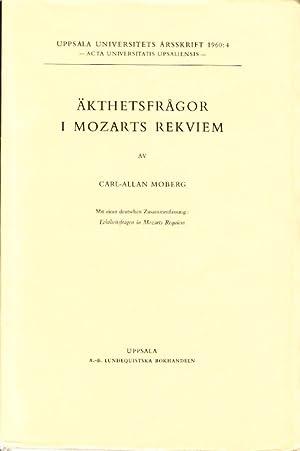 Äkthetsfrågor i Mozarts rekviem. Mit einer deutschen: Mozart. MOBERG, Carl-Allan.
