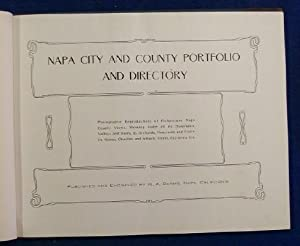 Napa City and County Portfolio and Directory.: Darms, H.A.