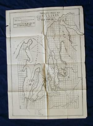 Tourist's Guide Map of the Six Lakes Outflowing at Elk Rapids Mich.