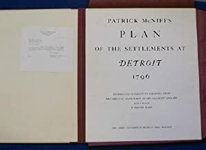 Patrick McNiff's Plan of the Settlements at Detroit 1796.