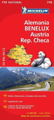 MAPA NATIONAL 719 ALEMANIA-BENELUX-AUSTRIA REP. CHECA: VARIOS AUTORES; MICHELIN