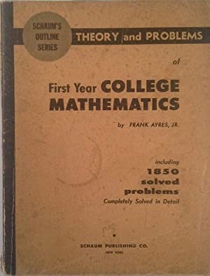 SCHAUM S OUTLINE OF THEORY AND PROBLEMS: AYRES JR., FRANK