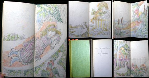 Original Artwork Illustrations for Pyotr Dudochkin Which is the Best Place? (1976) and Who Sings with What? By Vitali Bianki (Childrens Book) Very Go (48) pages; illustrations in pencil and color crayon of these two Russian children's stories; each prefaced by a blank page with the title in pencil a