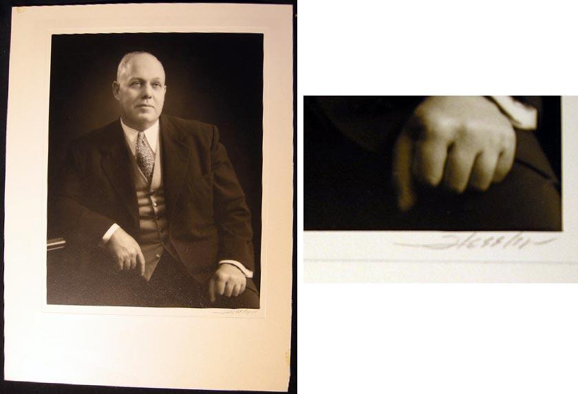 Circa 1940 Photograph of American Federation of Labor Leader George Meany By White House Photographer Leo G. Hessler (Americana - Labor History - AFL