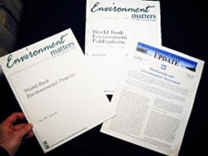 World Bank Environmental Projects July 1995 - June 1996 (with) World Bank Environment Publications ...