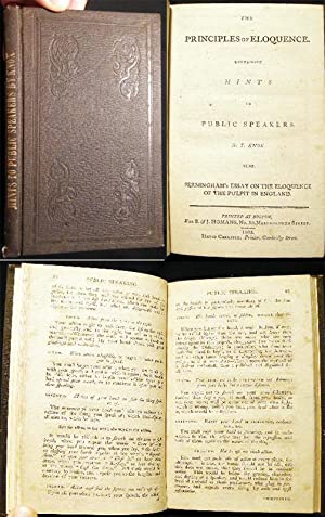 The Principles of Eloquence. Containing Hints to Public Speakers. By T. Knox. Also, Jerningham'...