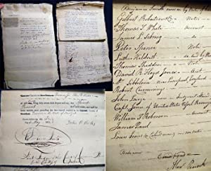 1811 Collection of Manuscript and Printed Documents Regarding the Petition of Alexander Peacock, an...