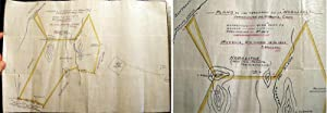 1907 Manuscript Mining Map Plano De Los: Americana - Mexico