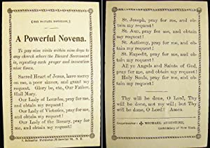 Circa 1900 A Powerful Novena: Americana - Religion - Christianity - Catholicism)