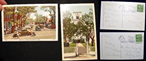 2 Nantucket Postcards: Congregational Church & Main: Nantucket)