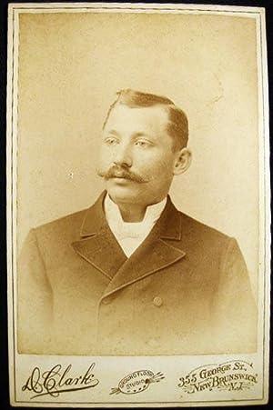 Circa 1892 Cabinet Card Portrait Photograph By David Clark New Brunswick New Jersey: Americana - ...