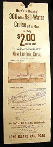 1936 Broadside Advertisement Here's a Bracing 300 Mile Rail-Water Cruise.From New York or ...