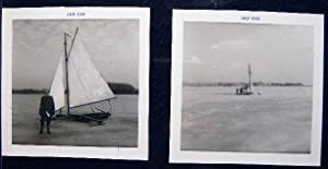 1968 Two Photographs of Ice Boating: Americana - 20th
