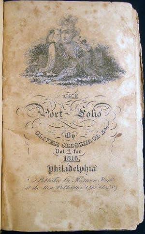 The Port-Folio By Oliver Oldschool Esq. Vol: Americana - Literary
