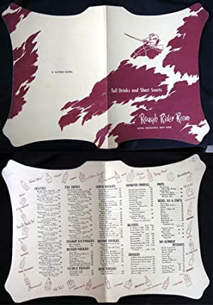 "C. 1960 ""Tall Drinks and Short Snorts"" Rough Rider Room Hotel Roosevelt, New York Die-Cut..."