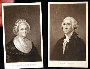 C. 1885 Cartes-De-Visite of George & Martha Washington: George & Martha Washington)