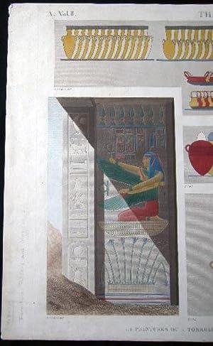 Thebes . Byban El Molouk. A. Vol. II Pl. 87: Ancient Egypt - Art - Thebes)