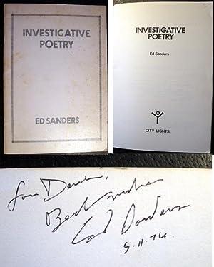 Investigative Poetry: Sanders, Ed