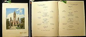 S.S. Santa Rosa Grace Line Wednesday, November 24th, 1954 Large Format Dinner Menu: S.S. Santa Rosa...