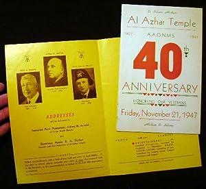 Al Azhar Temple 1907-1947 A.A.O.N.M.S. 40th Anniversary: A.A.O.N.M.S. [Shriners])