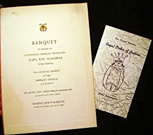 Banquet in Honor of Illustrious Imperial Potentate: A.A.O.N.M.S. [Shriners])