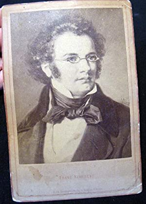 Cabinet Card Portrait of Franz Schubert By Friedrich Bruckmann, Berlin: Franz Schubert)