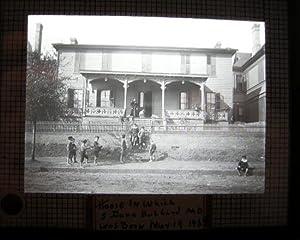 C. 1915 Glass Magic Lantern Slide of the House in Which S. Dana Hubbard M.D. Was Born Nov. 19 1869:...
