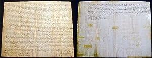 1801 Manuscript Indenture Between John & William Bennett & William Hawxhurst Oyster Bay ...