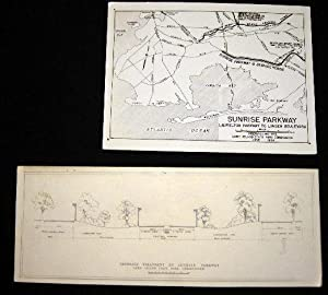 1934 2 Photographs of Plans for Sunrise Parkway Laurelton Parkway to Linden Boulevard (with) ...