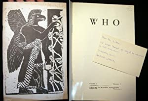 Who (magazine) Volume 1 Number 1: Who)