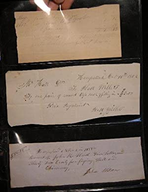 1850s Receipts for Business in Hempstead Long Island: Manuscript Americana - Business History - ...