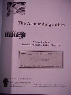 The Astounding Fifties - 40th Anniversary Edition Series A : A Selection From Astounding Science ...