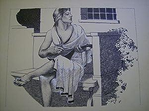 ORIGINAL INK DRAWING: FINLAY, Virgil