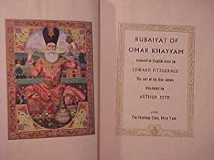 RUBAIYAT OF OMAR KHAYYAM: SZYK, Arthur illus.) FITZGERALD, Edward