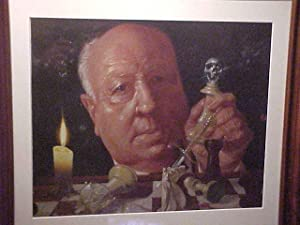 ORIGINAL Richard Bober ALFRED HITCHCOCK oil painting.: BOBER, Richard/( HITCHCOCK, Alfred)