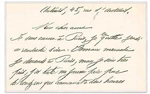 Carte autographe signée: LORRAIN Jean