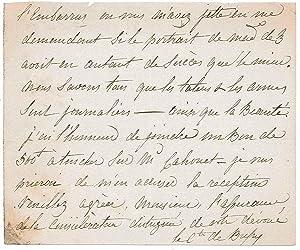 3 lettres autographes à lui adressées: CAISNE Henri de