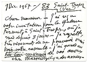 4 lettres autographes signées: DUNOYER DE SEGONZAC André