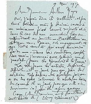 5 lettres autographes signées: LÉVY-DHURMER Lucien