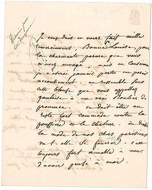 Lettre autographe signée: BEAUHARNAIS Eugène de