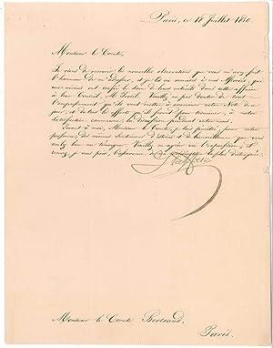 Lettre signée: LAFFITE Jacques