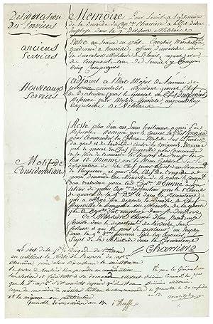 Apostille autographe signée: MOLITOR Gabriel Jean Joseph