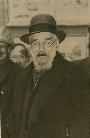 Rare portrait photographique du peintre, âgé, publié à l¿occasion...