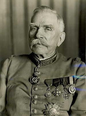 Beau portrait photographique du maréchal en uniforme: JOFFRE Joseph