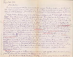 Ensemble de 5 lettres autographes signées: FONTAINAS André