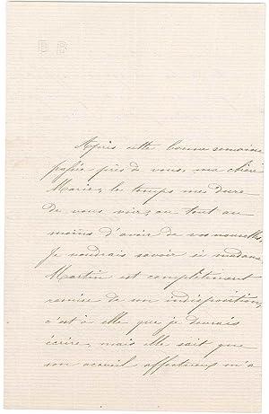 4 lettres autographes signées de sa soeur Emma: BAILLAUD Édouard Benjamin