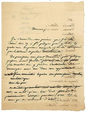 Important dossier de 6 pièces et lettres: DUBOIS Paul-François