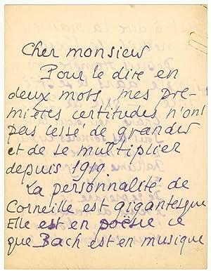 3 Lettres autographes inédites: LOUYS Pierre