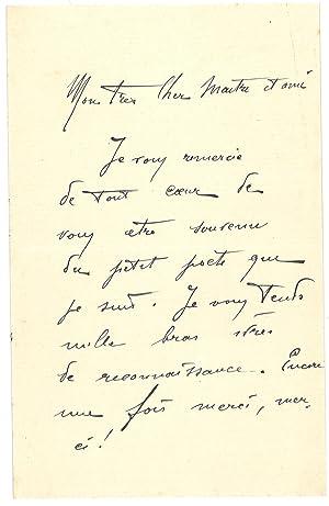 Lettre autographe signée: MARINETTI Filippo Tommaso