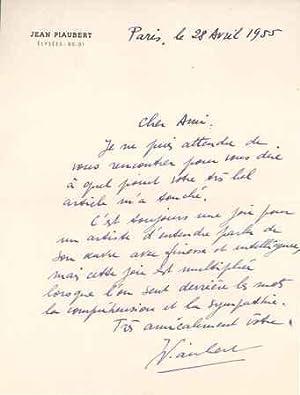 3 Lettres autographes signées adressée à Jean-Paul CRESPELLE (1910-1994), ...